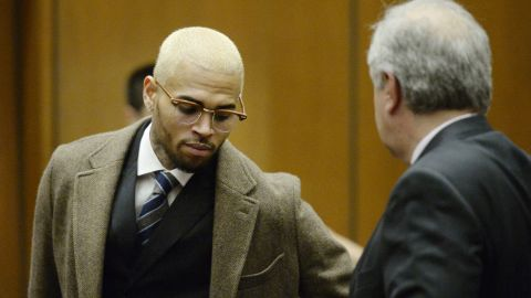 """<strong>December 2013: </strong><a href=""""http://www.cnn.com/2013/12/16/showbiz/chris-brown-probaton-revoked/index.html"""" target=""""_blank"""">Brown's new rehab doctors reported</a> on December 16 they """"witnessed very positive change in Mr. Brown since his psychotropic medications have been changed and he has been taken off medical marijuana."""" After nearly a month on the court-ordered program, they said Brown's """"ability to emotionally regulate himself has improved markedly."""" The judge delayed a decision on if he would send Brown to jail after he completed his 90-day rehab visit."""