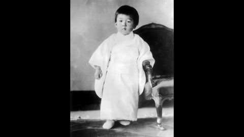 A portrait of Crown Prince Akihito in January 1936 at age 3. He is the son of Empress Nagako and Emperor Hirohito, whom he succeeded in 1989. The Chrysanthemum Throne is the oldest hereditary monarchy in the world. Records show the imperial line to be unbroken for 14 centuries.