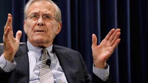 Former U.S. Secretary of Defense Donald Rumsfeld in 2011.