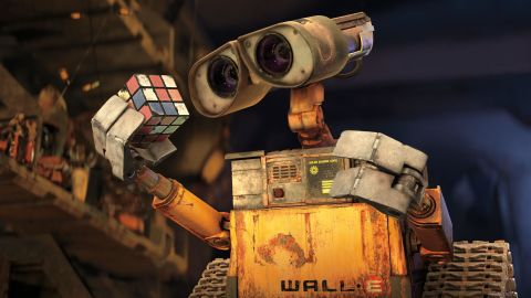 """In Pixar's 2008 film """"Wall-E,"""" the titular robot was the last resident of an abandoned, environmentally ruined Earth. The first half of the computer-animated movie contained virtually no dialogue."""