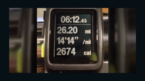 """It typically takes Black five or six hours to complete a marathon. The most he has ever run in one day is 52 miles. """"I'm an avid runner,"""" Black says in <a href=""""http://ireport.cnn.com/docs/DOC-1064700"""">an iReport video</a>. """"I enjoy running. It sets me free and having the opportunity to do something I love while it's benefiting other people is awesome."""""""