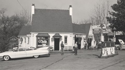 Diesel owner Justin Haynie believes this photo of the original Pure Oil filling station was taken in the 1950s. The gas station housed several different restaurants over the years, he said.