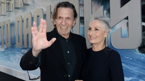 """Leonard Nimoy arrives at the """"Star Trek Into Darkness"""" premiere in May 2013."""