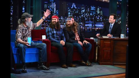 """Si, Jase and Willie appear on """"Late Night With Jimmy Fallon."""""""