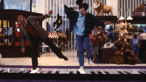 """Actors Robert Loggia, left, and Tom Hanks in the famous piano scene from the movie """"Big."""""""