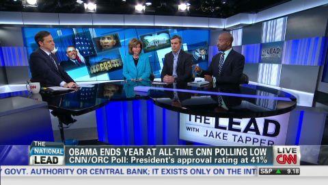 Lead politics panel Obama 2013 lowest poll ratings_00035111.jpg