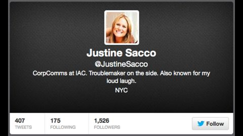 Justine Sacco's tweet went viral while she was en route to South Africa.