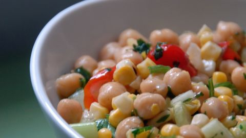 """Whether you call them garbanzos or chickpeas, a half-cup serving of these hearty legumes provides about 40% of your daily protein needs and 70% of your daily fiber intake, helping to stabilize blood sugar, <a href=""""http://www.health.com/health/gallery/0,,20435321,00.html"""" target=""""_blank"""" target=""""_blank"""">control cravings</a> and prevent overeating, Gidus says. <br /><br />They're also a great source of healthy unsaturated fats that can whittle your waistline. A 2009 study from the University of Newcastle in Australia found that participants who consumed the most unsaturated fats had lower body mass indexes and less belly fat than those who consumed the least.<br /><br /><a href=""""http://www.health.com/health/recipe/0,,50400000113216,00.html"""" target=""""_blank"""" target=""""_blank"""">Try this recipe: Cumin-spiced chickpeas</a>"""