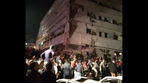 Bombing in Mansoura, Egypt.