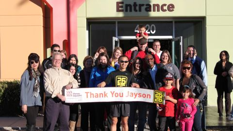 Black completed the final 26.2 miles on December 23, and he raised a total of $4,024 for the Three Square Food Bank in Nevada.