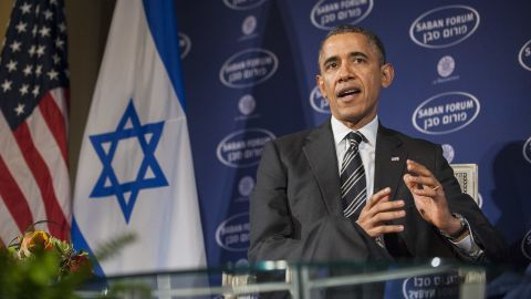 U.S. President Barack Obama at the Saban Forum at the Willard Hotel on December 7, 2013 in Washington, DC.