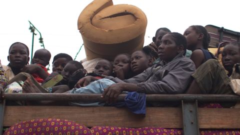 Muslims are taunted by Christians when their truck breaks down in the Gobongo neighborhood of Bangui.