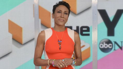 """In December 2013, """"Good Morning America"""" anchor Robin Roberts came out as a lesbian in a <a href=""""https://www.facebook.com/photo.php?fbid=378662368936659&set=a.216479948488236.54140.100003786976400&type=1"""" target=""""_blank"""" target=""""_blank"""">Facebook post </a>reflecting on the past year and thanking fans for their support after her bone marrow transplant. It was also the first public acknowledgment of her partner, Amber Laign. """"I am grateful for my entire family, my longtime girlfriend Amber, and friends as we prepare to celebrate a glorious new year together,"""" Roberts wrote."""