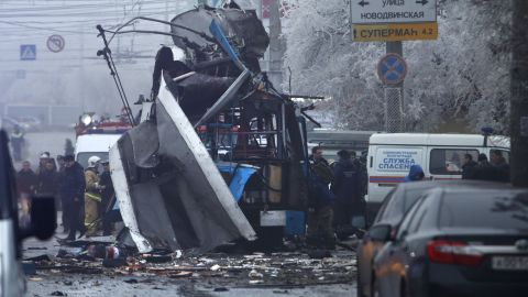 A bomb blast tore through a trolleybus in the city of Volgograd on Monday morning on December 30.