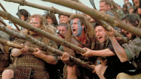 """<strong>""""Braveheart""""</strong> -- Mel Gibson's bloody 1995 epic about Scottish warrior William Wallace won five Oscars, including Best Picture."""