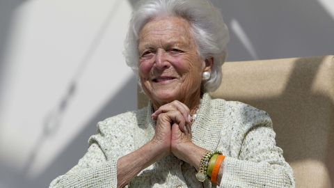 """Former first lady Barbara Bush """"has already received visits from her husband and family,"""" a spokesman said."""