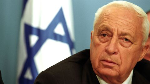 """29 Mar 2002, Jerusalem, Israel --- Israeli Prime Minister Ariel Sharon appears before the media at his office in Jerusalem to announce a widespread army operation against what he called Palestinian terrorism. Sharon said that Israel now considers Arafat an enemy and that he will be completely isolated """"at this stage.'' Sharon added """"I want to tell you that already, at this moment, Israel Defencs Force (IDF) forces are in Arafat's headquarters, the center of Arafat's control in Ramallah."""" --- Photo by Shaul Schwarz/Corbis Sygma ---"""