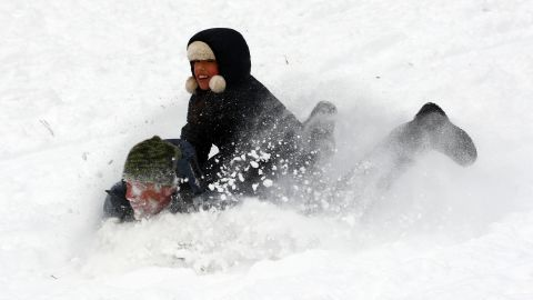 People play in Brooklyn's Prospect Park on January 3.