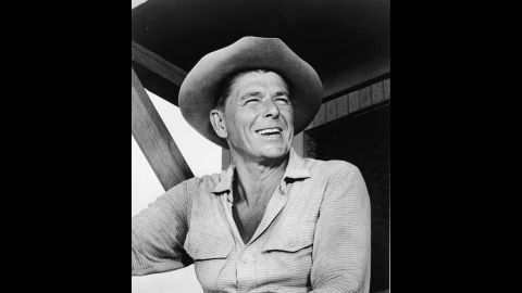 """Probably the most famous of all actors-turned-politicians, Ronald Reagan made more than 50 movies before being elected governor of California and eventually U.S. president for two terms, 1981-1989. He's pictured here in the TV show """"Death Valley Days"""" in 1965."""