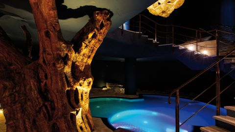 """Covering 3,000 square meters and featuring indoor and outdoor heated salt-water pools, five types of saunas and a crushed ice fountain, Lefay also encourages self-programmed lifestyles. """"You must enjoy life,"""" says Dr. Maurizio Corradin, a Western-trained, Eastern-practicing doctor at the heart of the Lefay spa."""