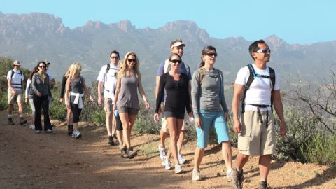 The 120-acre ranch is set three miles above the Pacific Ocean in the Santa Monica Mountains, and offers programs on sustainable exercise -- low impact, moderate activity, such as daily hikes, yoga and core work with weights.