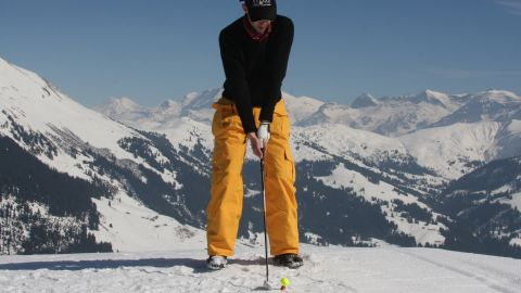 """Other parts of the world remain perfect locations for snow golfers to swing into action. Gstaad in Switzerland will host its eighth <a href=""""http://snow-golf.ch/uk/"""" target=""""_blank"""" target=""""_blank"""">Snow Golf tournament</a> in March."""