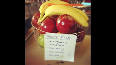 """Tired of watching her high school students """"scarf down Hot Cheetos with a Pop-Tart"""" for breakfast, Jessica Whiteside of Canton, Michigan, started buying fruit for her classroom. She now has a fruit basket on her desk at all times, spending from $50 to $80 a week """"feeding her classroom."""" """"Many students stop by on their way to other classes to grab a snack,"""" she said."""