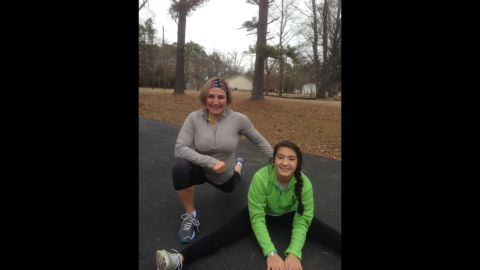 """Jennifer Hunt says she talks with her 13-year-old daughter, Julianne, about food and exercise almost every day. """"She and I talk about performance more than exercising as a workout. In other words, what does she wish she could do physically? And how will she get from here to there?"""" said the Little Rock, Arkansas, mom of three."""
