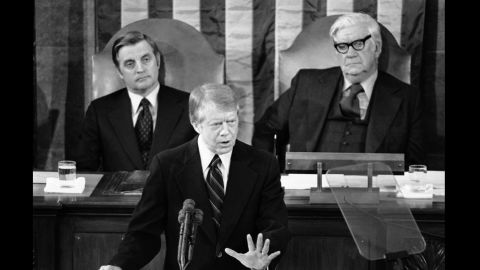 """President Jimmy Carter, a man who rode into the White House as an anti-government Washington outsider, lessened the focus on the war on poverty. """"Government cannot solve our problems,"""" he said in his 1978 State of the Union address."""