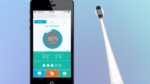 """How about a <a href=""""http://www.cnn.com/2014/01/09/tech/innovation/smart-toothbrush-kolibree/"""" target=""""_blank"""">connected toothbrush</a> that reminds you to brush, or rats out your children when they don't? From Kolibree, this brush also sends notifications to your phone."""