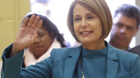 """Democrat Barbara Buono is a New Jersey state senator who challenged Chris Christie this past November and lost in a landslide. She derided Christie during the campaign as representing """"the worst combination of bully and bossism,"""" and she brought up the George Washington Bridge traffic mess as an example."""