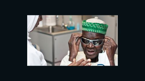 Staff at the Flying Eye Hospital also provide advice on how to protect eyes from injury by wearing safety glasses or protective goggles.