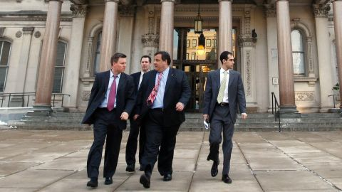 Bill Stepein, left, is Christie's re-election campaign manager.