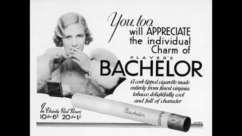 """An advertisement for Bachelor cigarettes invites the audience to sample their """"individual charm and delightful character."""""""