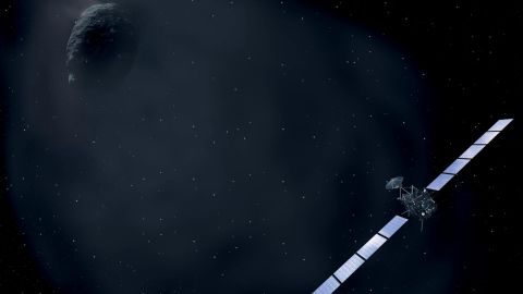 After taking pictures of Earth, Mars and asteroids, Rosetta was put into hibernation in May 2011 after it reached the outer part of the solar system. Mission managers woke it January 20, 2014.