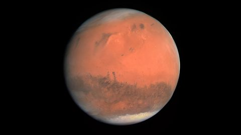 Rosetta took this image of Mars as it looped through the solar system.
