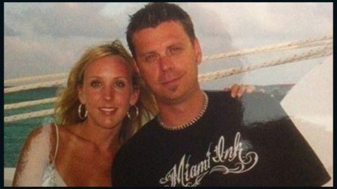Chad Oulson and his wife Nicole are seen together in this photo taken from Facebook.