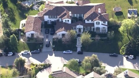 Embargo: Los Angeles, CA The Los Angeles County Sheriff's Department was executing a felony search warrant Tuesday morning, January 14, 2014, at the Calabasas, California, home of pop star Justin Bieber. The search warrant stems from Bieber's possible connection to a recent egg-throwing incident, a sheriff's department spokesman said.