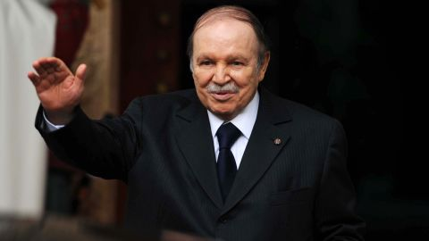 """Algerian President Abdelaziz Bouteflika <a href=""""http://www.cnn.com/2013/04/27/world/africa/algeria-president-stroke/index.html"""">suffered a ministroke in April </a>and hasn't appeared as much in public since then. State media reported on January 14 that he's in Paris for a routine checkup and that his health is improving."""