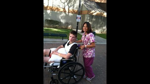 Grant Virgin and a nurse. Forty-eight hours after receiving high-dose fish oil, he called his mother in the middle of the night and had a conversation with her.