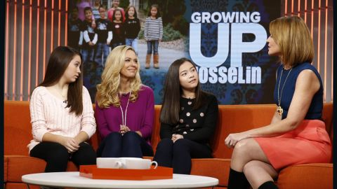 """Kate Gosselin appeared on """"Today"""" with daughters Cara (left) and Mady on Thursday."""