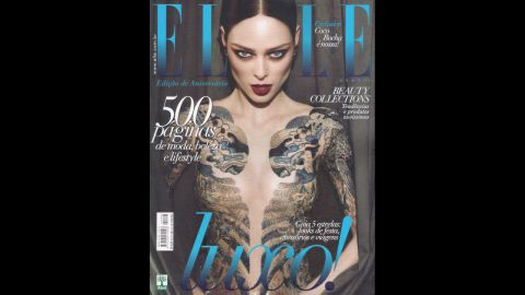"""When Coco Rocha was featured on Elle Brasil's May 2012 issue, she took to her Tumblr and had this to say: """"As a high fashion model I have long had a policy of no nudity or partial nudity in my photo shoots. For my recent Elle Brazil cover shoot I wore a body suit under a sheer dress which I now find was photoshopped out to give the impression of me showing much more skin than I was, or am comfortable with. This was specifically against my expressed verbal and written direction to the entire team that they not do so. I'm extremely disappointed that my wishes and contract was ignored. I strongly believe every model has a right to set rules for how she is portrayed and for me these rules were clearly circumvented."""""""