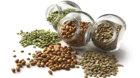 """<strong>Bean soup</strong><br /><br />""""Soups have a high water content, which means they fill your stomach for very few calories,"""" says Rolls. Broth-based bean soups, in particular, contain a hefty dose of fiber and resistant starch -- a good carb that slows the release of sugar into the bloodstream -- to make that full feeling really stick. """"Once in the stomach, fiber and water activate stretch receptors that signal that you aren't hungry anymore,"""" Rolls says. All this for a measly 150 calories per cup.<br /><br /><strong>Feel even fuller:</strong> Resist the cracker pack on the side in favor of a bigger soup helping. Beans are starchy, satisfying and caloric enough on their own, Rolls says. Hate soup? Throw lentils, black-eyed peas or kidney or navy beans into a vinegar-based salad.<br /><br /><a href=""""http://www.health.com/health/gallery/0,,20553010,00.html"""" target=""""_blank"""" target=""""_blank"""">Health.com: 20 best foods for fiber</a>"""