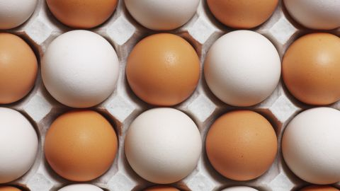 """<strong>Eggs</strong><br /><br />A study from Saint Louis University found that folks who ate eggs for breakfast consumed 330 fewer calories throughout the day than those who had a bagel. """"Eggs are one of the few foods that are a complete protein, meaning they contain all nine essential amino acids that your body can't make itself,"""" says Joy Dubost, spokesperson for the Academy of Nutrition and Dietetics. """"Once digested, those amino acids trigger the release of hormones in your gut that suppress appetite.""""<br /><br /><strong>Feel even fuller:</strong> Don't discard the yolks -- about half an egg's protein lives in those yellow parts. Adding vegetables to a scramble boosts its volume and fiber content for few extra calories (an egg has 78, and a cup of spinach just 7).<br /><br /><a href=""""http://www.health.com/health/gallery/0,,20676415,00.html"""" target=""""_blank"""" target=""""_blank"""">Health.com: The 20 best foods to eat for breakfast</a> <br />"""