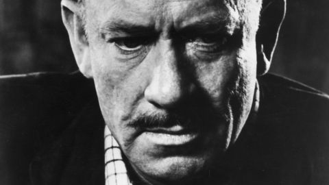 American author John Steinbeck (1902 - 1968) pictured around 1955.