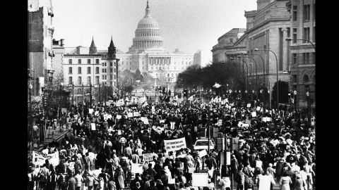 Several thousand marchers march down Pennsylvania  Avenue in Washington toward the U.S. Capitol building on January 22, 1981. The March for Life, billed as the world's largest anti-abortion event, is remaking itself in deeper ways as well, says Monahan.