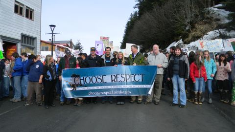 """Alaska hosts """"Choose Respect"""" rallies across the state in the spring."""