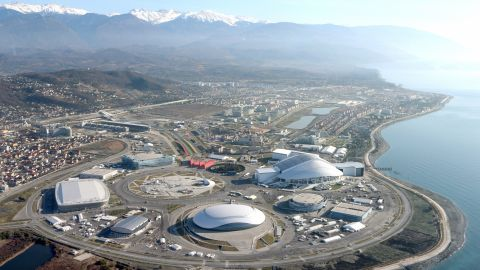 """The """"coastal cluster"""" venues for the 2014 Winter Olympic Games are pictured in January 2014 in Sochi."""