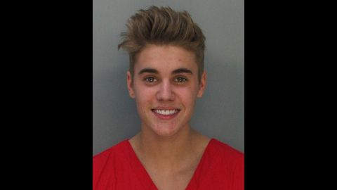 """Justin Bieber was charged with drunken driving, resisting arrest and driving without a valid license after police saw the pop star <a href=""""http://www.cnn.com/2014/01/23/showbiz/justin-bieber-arrest/index.html?hpt=hp_t1"""">street racing in a yellow Lamborghini </a>in Miami in January 2014. """"What the f*** did I do?"""" he asked the officer. """"Why did you stop me?"""" He was booked into a Miami jail after failing a sobriety test."""