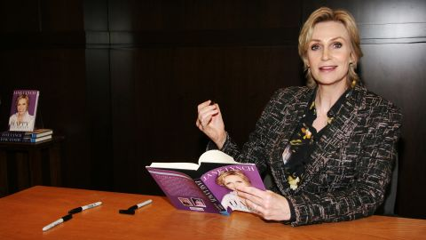 """Jane Lynch wrote about her addictions to alcohol and cough syrup in her memoir """"Happy Accidents."""" She<a href=""""http://www.accesshollywood.com/jane-lynch-talks-sues-glee-future-and-cory-monteiths-rehab-move-hes-renewing-his-vows-to-sobriety_article_78523"""" target=""""_blank"""" target=""""_blank""""> told Access Hollywood in 2013</a> that she has been sober for 21 years."""